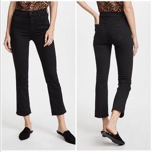 MOTHER The Insider Black Crop HR Jeans, 26